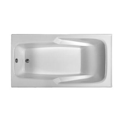 Rectangle 70 x 35.5 Soaking Bathtub Finish: White