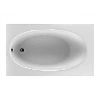 Rectangle 59.25 x 35.5  Soaking Bathtub Finish: White