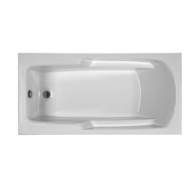 Reliance 60 x 29.75 Drop In Soaking Bathtub Finish: White
