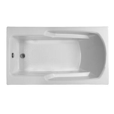 Rectangle  59.25 x 31.75  Soaking Bathtub Finish: White