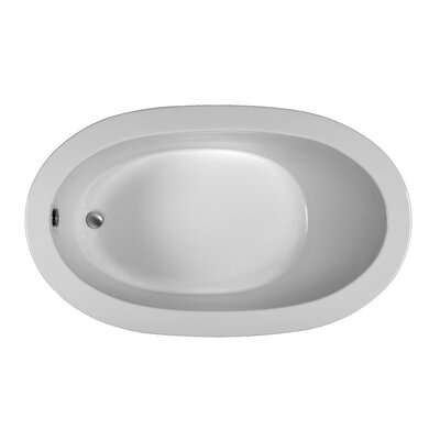 Oval 59.5 x 35.5 Soaking Bathtub Finish: White