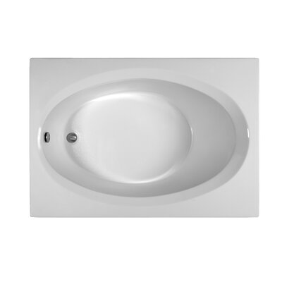 Rectangle 59.75x 41.5  Soaking Bathtub Finish: White