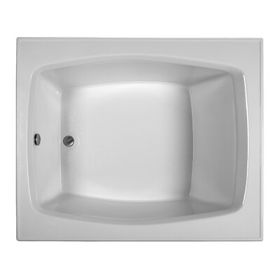Rectangle 59.25 x 47.5  Soaking Bathtub Finish: White
