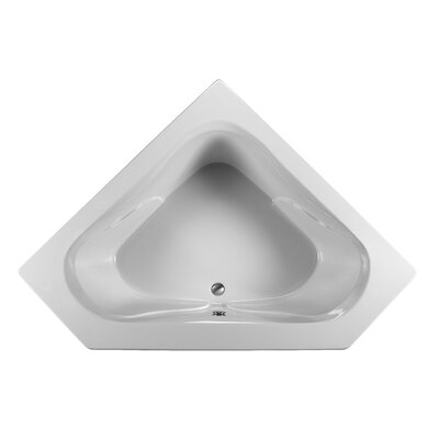 Open 59.25 x 59.25  Soaking Bathtub Finish: White