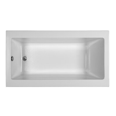 Contemporary 66 x 32.25 Soaking Bathtub Finish: White