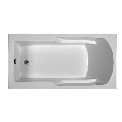 Rectangle 65.75 x 33.75 Soaking Bathtub Finish: White