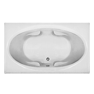 Rectangle 70.5 x 41.5 Soaking Bathtub Finish: White