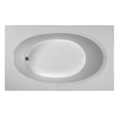 Rectangle 71 x 41.5 Soaking Bathtub Finish: White