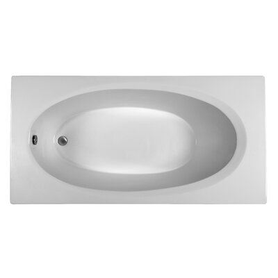 Rectangle 71.75 x 35.75 Soaking Bathtub Finish: White