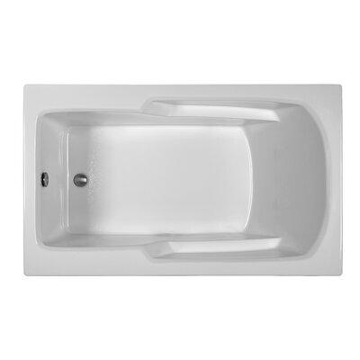 Rectangle 59.75 x 35.75 Soaking Bathtub Finish: White