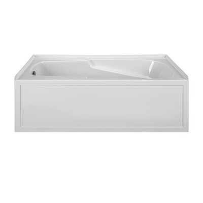 Reliance Integral 60 x 32 Alcove Whirlpool Bathtub Finish: Biscuit, Drain Location: Left