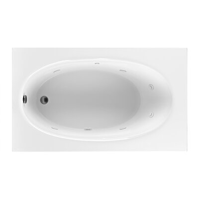 Reliance 59 x 36 Whirlpool Bathtub Finish: Biscuit