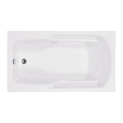 Reliance 60 x 36 Whirlpool Bathtub Finish: Biscuit