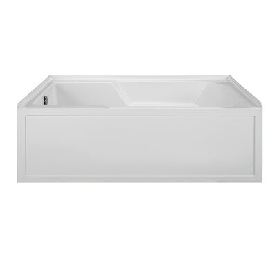 Integral Skirted 60 x 36 Air Bath Finish: White, Drain Location: Right