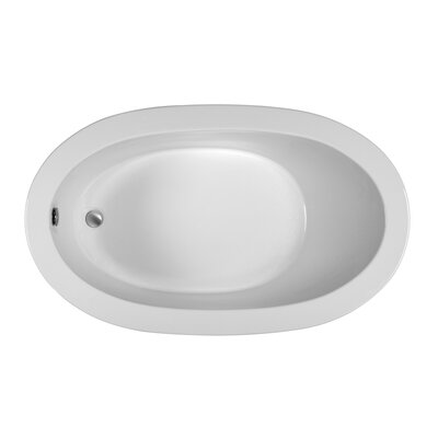 Oval 59.5 x 35.5 Soaking Bathtub Finish: Biscuit