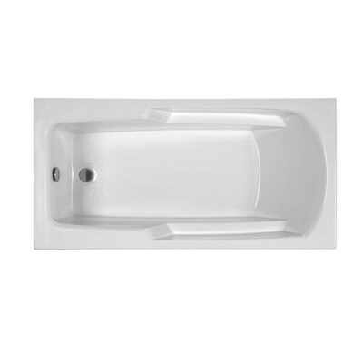 Reliance 60 x 29.75 Drop In Soaking Bathtub Finish: Biscuit