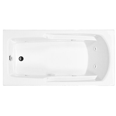 Reliance 60 x 29.75 Drop In Whirlpool Bathtub Finish: Biscuit