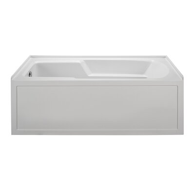 Integral Skirted End Drain 60 x 30 Air Bath Drain Location: Right, Finish: White