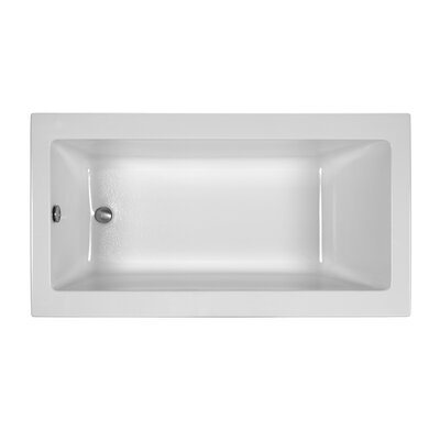 Reliance Contemporary 60 x 32 Drop In Soaking Bathtub Finish: Biscuit