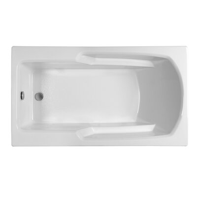 Rectangle  59.25 x 31.75  Soaking Bathtub Finish: Biscuit