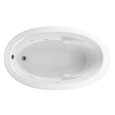 Reliance 69 x 42 Whirlpool Bathtub Finish: Biscuit