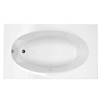 Reliance 71 x 42 Whirlpool Bathtub Finish: Biscuit