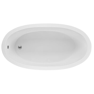 Oval End Drain 72 x 36 Soaking Bath Finish: Biscuit