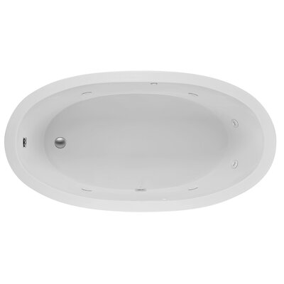 Oval End Drain 72 x 36 Whirlpool Bath Finish: White