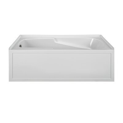Integral Skirted 60 x 42 Air Bath Finish: White, Drain Location: Right