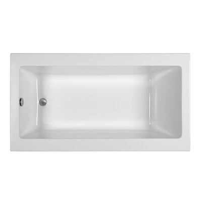 End Drain 66 x 36 Air Tub Finish: Biscuit