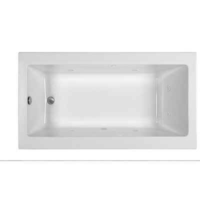End Drain 66 x 36 Whirlpool Tub Finish: White