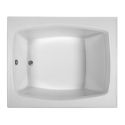 Rectangle 59.25 x 47.5  Soaking Bathtub Finish: Biscuit