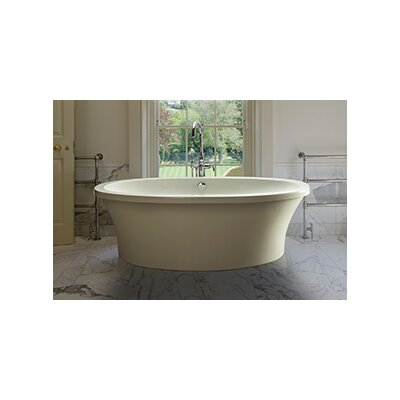 Center Drain Freestanding 66 x 36.75 Soaking Tub Finish: Biscuit