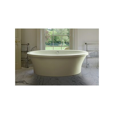 Center Drain Freestanding 66 x 36.75 Soaking Tub with Virtual Spout Finish: Biscuit