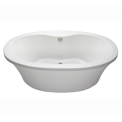 Center Drain Freestanding 66 x 36.75 Soaking Tub with Virtual Spout Finish: White