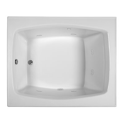 Reliance 59 x 48 Whirlpool Bathtub Finish: Biscuit