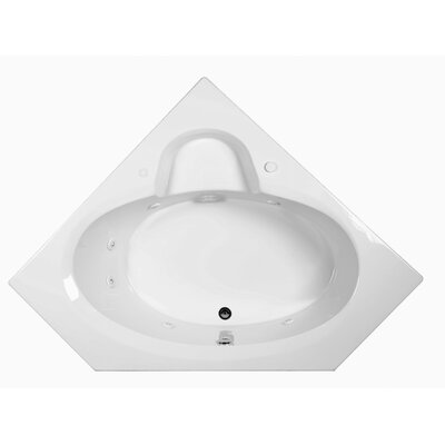 Reliance 59 x 59 Whirlpool Bathtub Finish: Biscuit