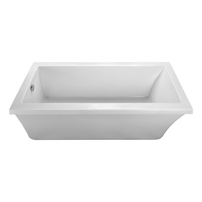 End Drain Freestanding 65.5 x 32 Soaking Tub Finish: Biscuit