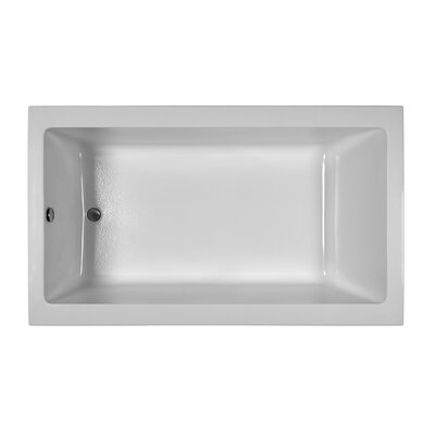 Contemporary  72 x 42 Soaking Bathtub Finish: Biscuit, Installation: Drop in