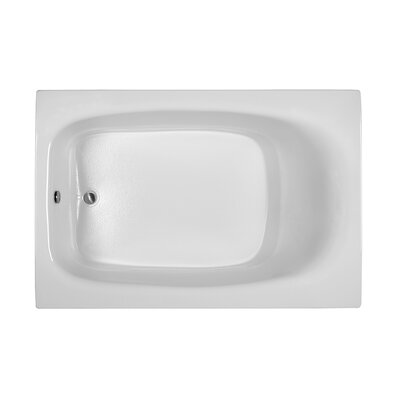 Rectangle 71.25 x 47.25  Soaking Bathtub Finish: Biscuit