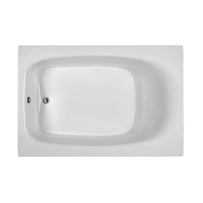 Reliance 71.25 x 47.25 Soaking Bathtub Finish: Biscuit