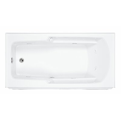 Reliance 60 x 30 Whirlpool Bathtub Finish: White, Drain Location: Right