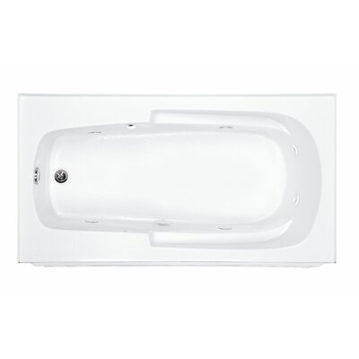 Reliance Integral 60 x 32 Alcove Whirlpool Bathtub Finish: Biscuit, Drain Location: Right
