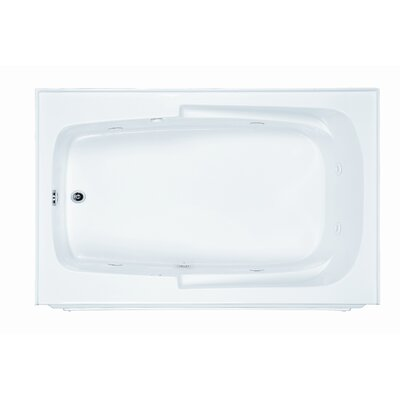 Reliance 59.88 x 36 Soaking Bathtub Finish: White, Drain Location: Right
