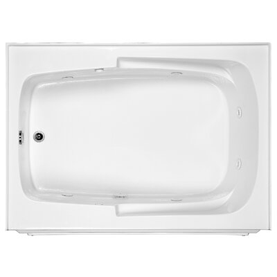 Reliance 60 x 42 Whirlpool Bathtub Finish: White, Drain Location: Right