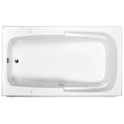 Reliance 72 x 42 Integral Skirted Whirlpool Bathtub Finish: White, Drain Location: Left