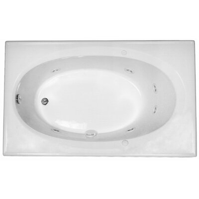 Reliance 59 x 36 Whirlpool Bathtub Finish: White
