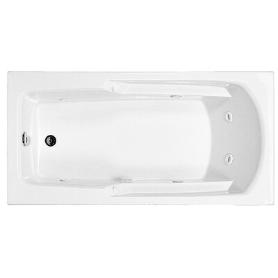 Reliance 60 x 29.75 Drop In Whirlpool Bathtub Finish: White