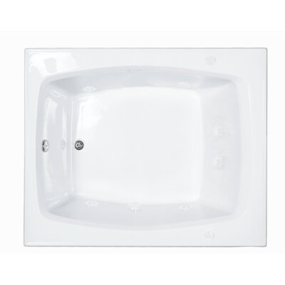 Reliance 59.25 x 47.5 Soaking Bathtub Finish: White