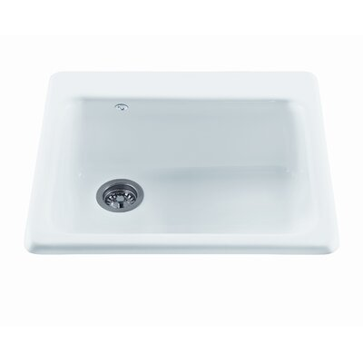 Reliance 25 x 22.25 Simplicity Single Bowl Kitchen Sink Finish: White, Faucet Drillings: 1 Hole